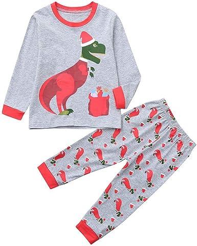 K-youth Ropa de Bebe Niño Recien Nacido Pijamas Bebe Niño Navidad 2 Piezas Ropa de Dormir para Bebe Camiseta Manga Larga Conjunto Niña Pantalon y Top Invierno Navidad Disfraz Oferta: Amazon.es: Ropa