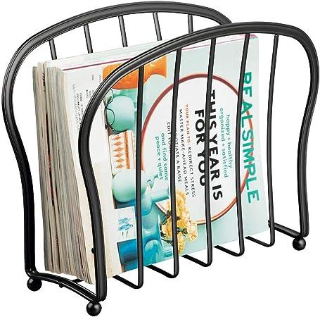 mDesign Porte-Revue décoratif pour journaux, Livres ou ...