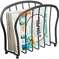 mDesign Revistero de Metal Decorativo para revistas, Libros