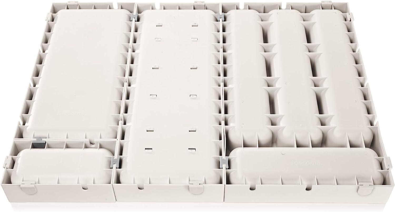 Tescoma FlexiSpace Porta Posate da Cassetto Bianco 22.2 x 4.9 x 41 cm