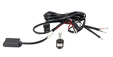 Glotech Light Bar Wiring Harness Kit 12V/40A Fuse Relay, On/Off Wireless on