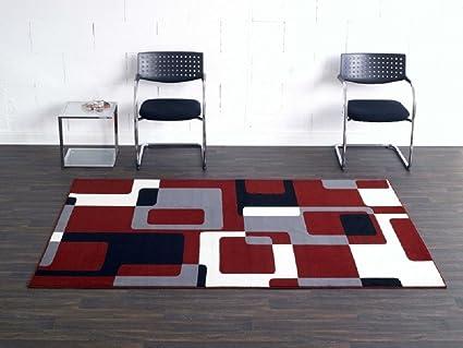 Bavaria Home Style Alfombra Retro Colores Rojobeigegrisnegro