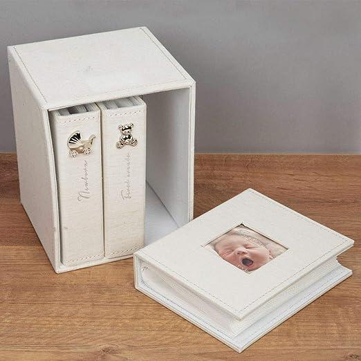Leinen Juliana Bambino Fotoalben f/ür Babyfotos 3er-Set 10 x 15 cm