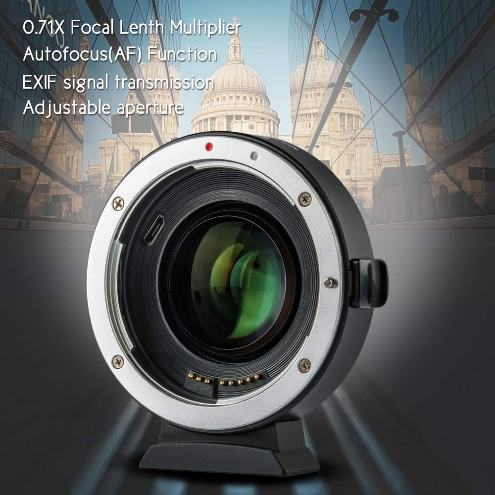 VILTROX EF-EOS M2 Auto Focus Lens Mount Adapter Ring 0.71X Focal Lenth Multiplier USB Upgrade for Canon EF Series Lens to EOS EF-M Mirrorless Camera for Canon EOS M/ M2/ M3/ M5/ M6/ M10/ M50/ M100 by VILTROX (Image #6)