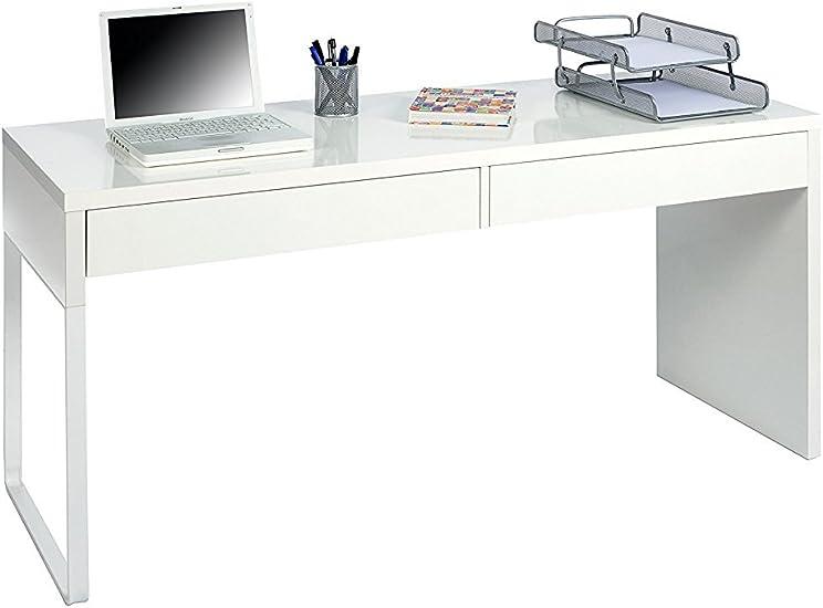 Oferta amazon: Habitdesign Mesa Escritorio con 2 Cajones, Mesa de Despacho, Mesa de Oficina, Modelo Touch, Color Blanco Artik, Medidas: 138 cm (Ancho) x 50 cm (Fondo) x 75 cm (Alto)