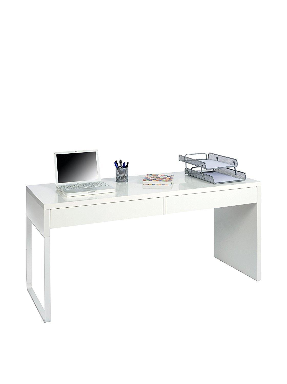 Hogar Decora - Mesa de Escritorio, Blanco Brillo, Medidas: 138 x ...