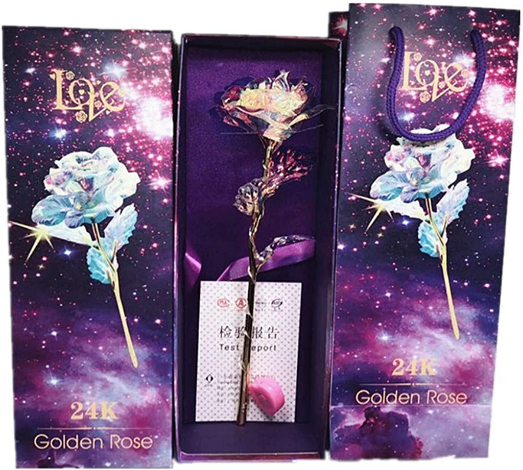 Amazon Com Gongting Gold Rose Gifts For Women Artificial