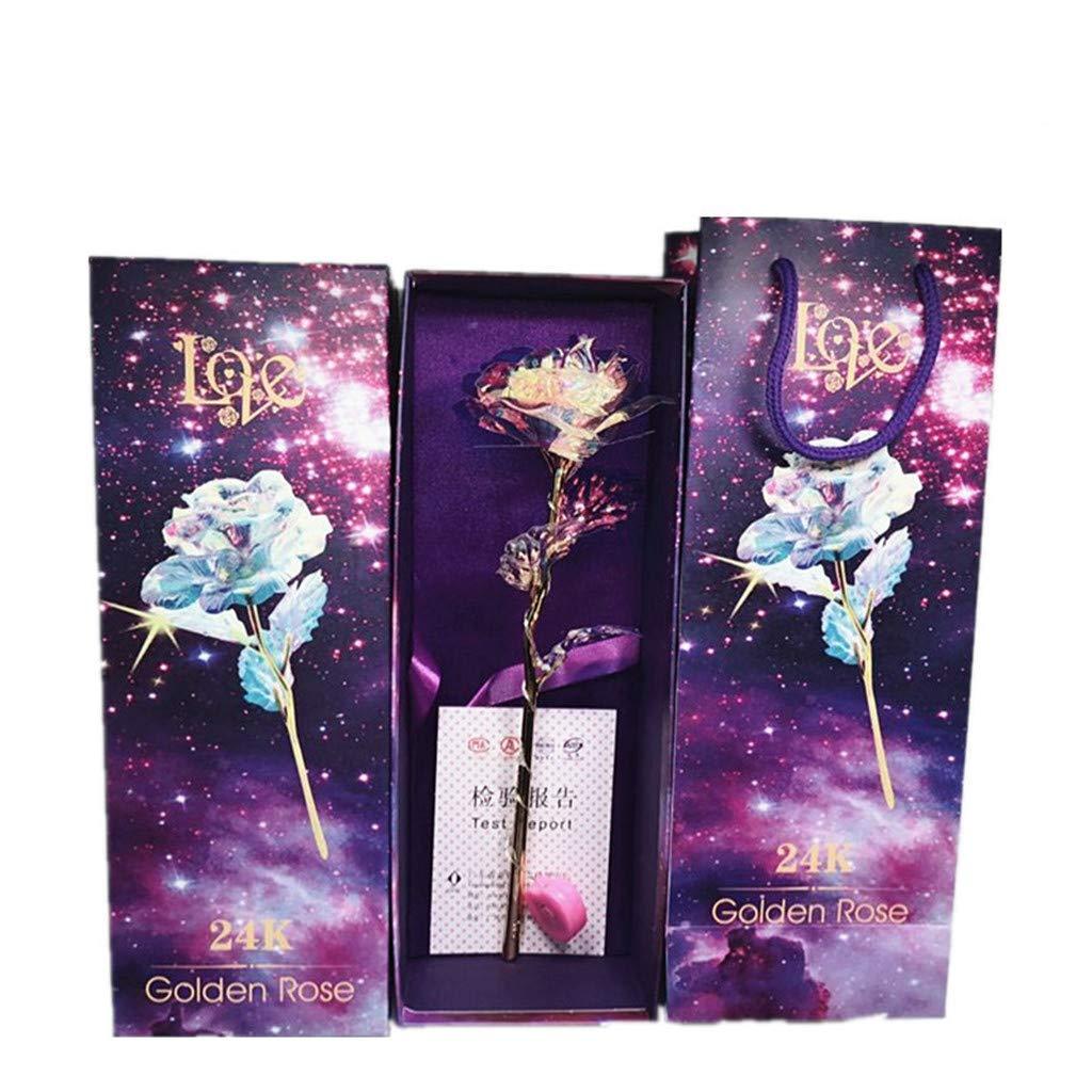 Lljin Galaxy Rose With Love Base cristallo eterno festa della mamma regalo la migliore scelta B