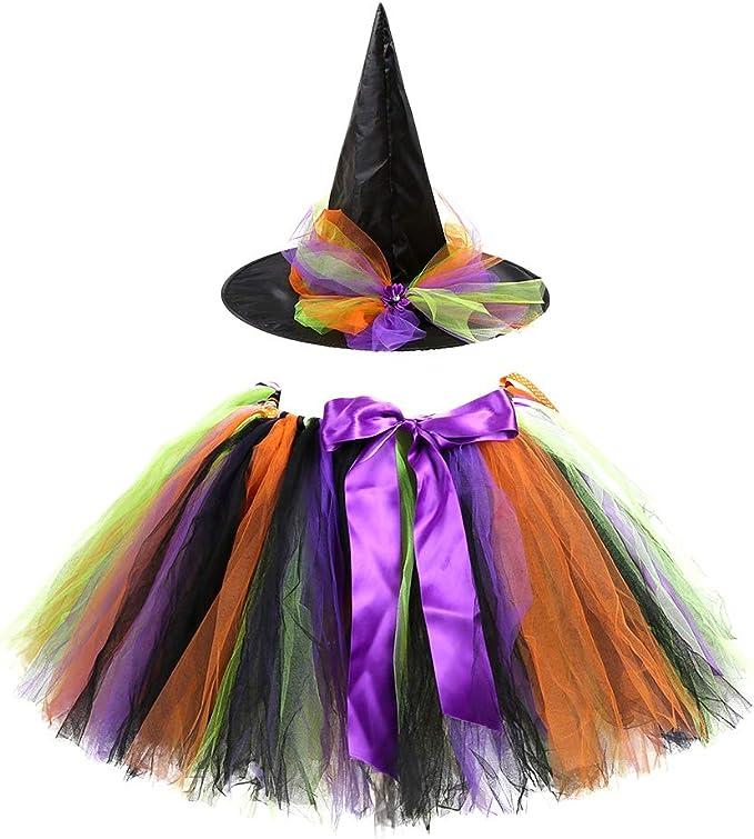 Amazon.com: TENDYCOCO falda tutú de bruja para disfraz de ...