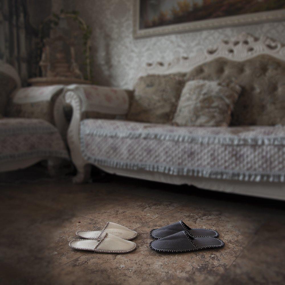 YISHU Talla 38//44 aptas para Muchos Invitados Unisex Juego de 6 Zapatillas de Invitados de Fieltro Suela Antideslizante