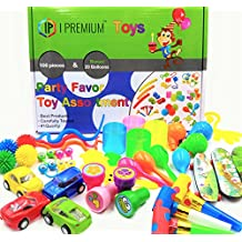 I Premium Party Favor Toy Assortment In Big 120 Pack Party Favors For Kids. Fun Birthday, Classroom Rewards, Carnival, Prizes, Pinata Filler, Stocking Stuffers, Goodie Bag Fillers, Treasure Box Prizes