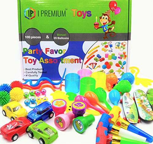 I Premium Party Favor Toy Assortment In Big 120 Pack Party Favors For Kids. Fun Birthday, Classroom Rewards, Prizes, Pinata Filler, Perfect Gift For Stocking Stuffers And Goodie Bag Fillers