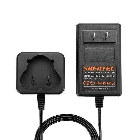Shentec 12V Lithium Battery Charger Compatible with Black and Decker 12V BL1110 BL1310 BL1510 LB12 LBX12 LBXR12 Pod Style Battery