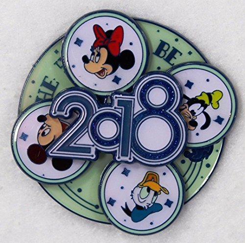 Disneyland Resort Parks 2018 Logo Spinner Mickey Minnie Fab - Disney Shop Land