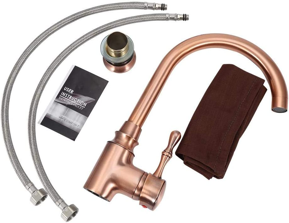 Sink Taps Space aluminum rose gold kitchen faucet sink faucet hot and cold mixing valve Kitchen Mixer Faucets Ausla Kitchen Sink Mixer Tap