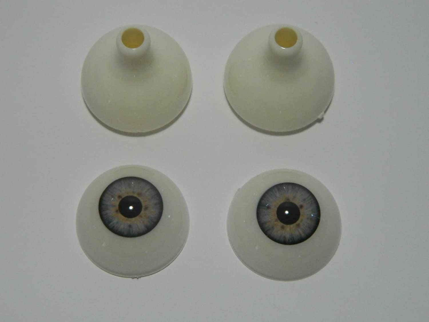 DOLLS or Bears FL02 MASKS Pair of Realistic Life Size Acrylic Half Round Hollow Back Eyes for Halloween PROPS