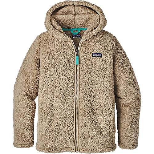 Patagonia Girls' Los Gatos Fleece Hoodie (L, El Cap Khaki/Strait Blue)