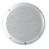 PolyPlanar 4'' 2-Way Coax Integral Grill Marine Speaker - (Pair) White by Poly-Planar