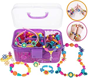 530 Pcs Pop Beads, Jewelry Making Kit for Kids Age 3 and Up Gift, Snap Beads for Girls DIY Bracelets, Necklaces, Hairbands and Rings, Funny Arts and Crafts Toy