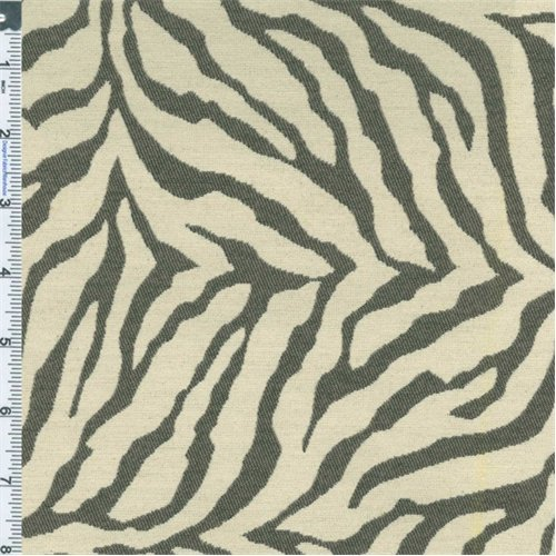 Gray/White Zebra Stripe Jacquard Home Decorating Fabric, Fabric by The Yard ()