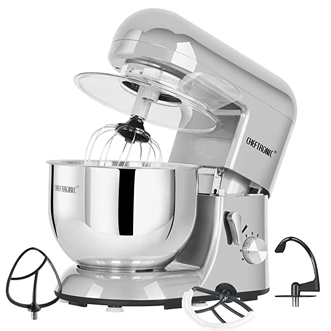 Amazon.com: CHEFTRONIC Tilt-head Stand Mixers SM-986 120V/650W 5.5qt Bowl 6 Speed Kitchen Electric Mixer: Kitchen & Dining