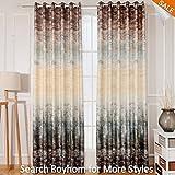 Royhom 50″ W x 84″ L (Set Of 1 Panel) Morden Blackout Curtain/Print Curtain/Tree Rock Pattern/Grommet Top Curtain For Sale