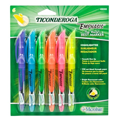 ticonderoga-emphasis-fluorescent-highlighters-pocket-style-with-clip-chisel-tip-pack-of-6-markers-as