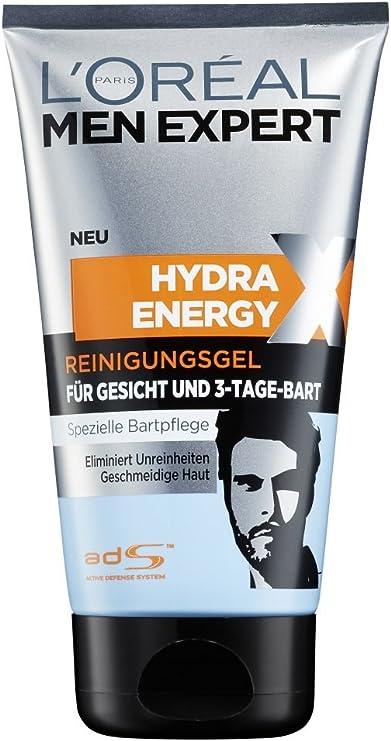LOréal Paris Men Expert Hydra Energetic Gel Limpiador barba de 3 días, 1er Pack (1 x doce y quince l): Amazon.es: Belleza