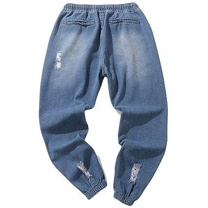 Sonnena Hombre Hombre Pantalones Mezclilla Denim Jeans, Pantalones Mezclilla algodón Ocasionales otoño Traje Colada Vintage