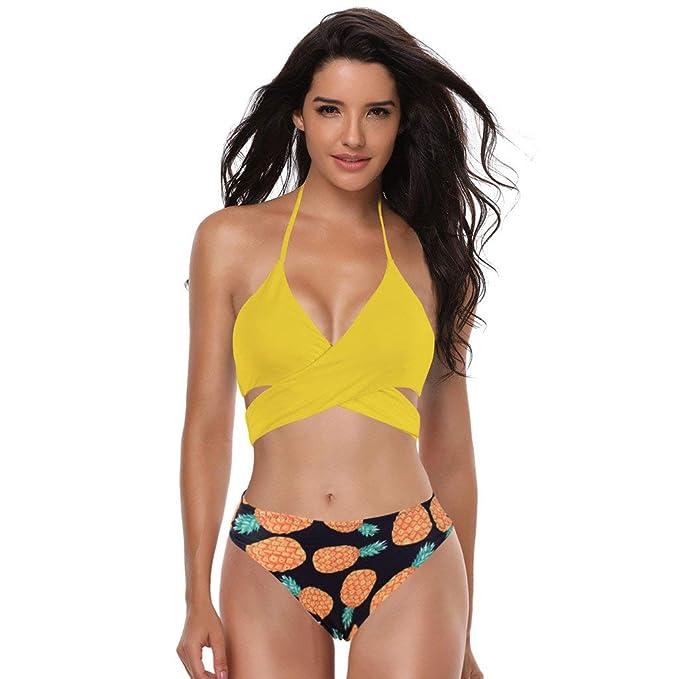 fad275f143 POLP Bikinis Mujer 2019 Braga Alta Tangas Sexys Mujer Traje de baño Mujer  Deportivo Ropa de Verano Playa Bikinis brasileños Mujer 2PC Negro Blanco  Azul ...