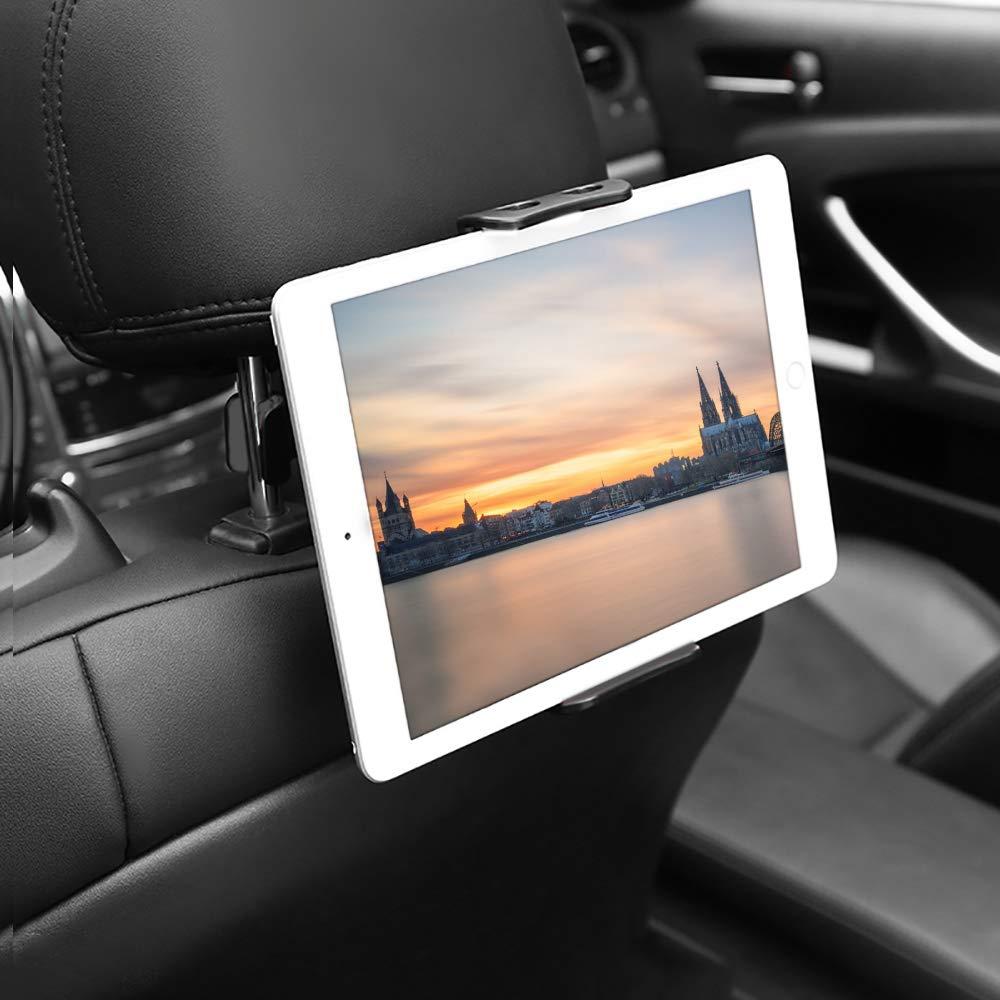 per poggiatesta auto per Pad Air Mini Supporto universale per tablet Tab 10.5 nero smartphone e tablet da 4,4~11 pollici Pad 2018 Pro 9.7