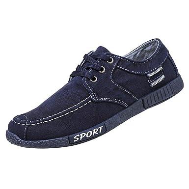 f3be2287fe Men Sneakers,Caopixx Denim Canvas Shoes Men's Casual Sports Shoes Low-Top  Shoes