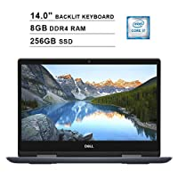 Dell 2019 Dell Inspiron 14 5482 14 Inch FHD 2-in-1 Touchscreen Laptop (Intel Core i7-8565U up to 4.6 GHz, 8GB RAM, 256GB SSD, Backlit Keyboard, Bluetooth, WiFi, HDMI, Windows 10, Grey) (Renewed)
