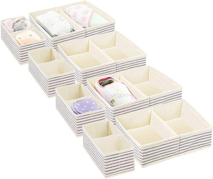 mDesign Juego de 8 Cajas de almacenaje para Cuarto Infantil y Ropa ...