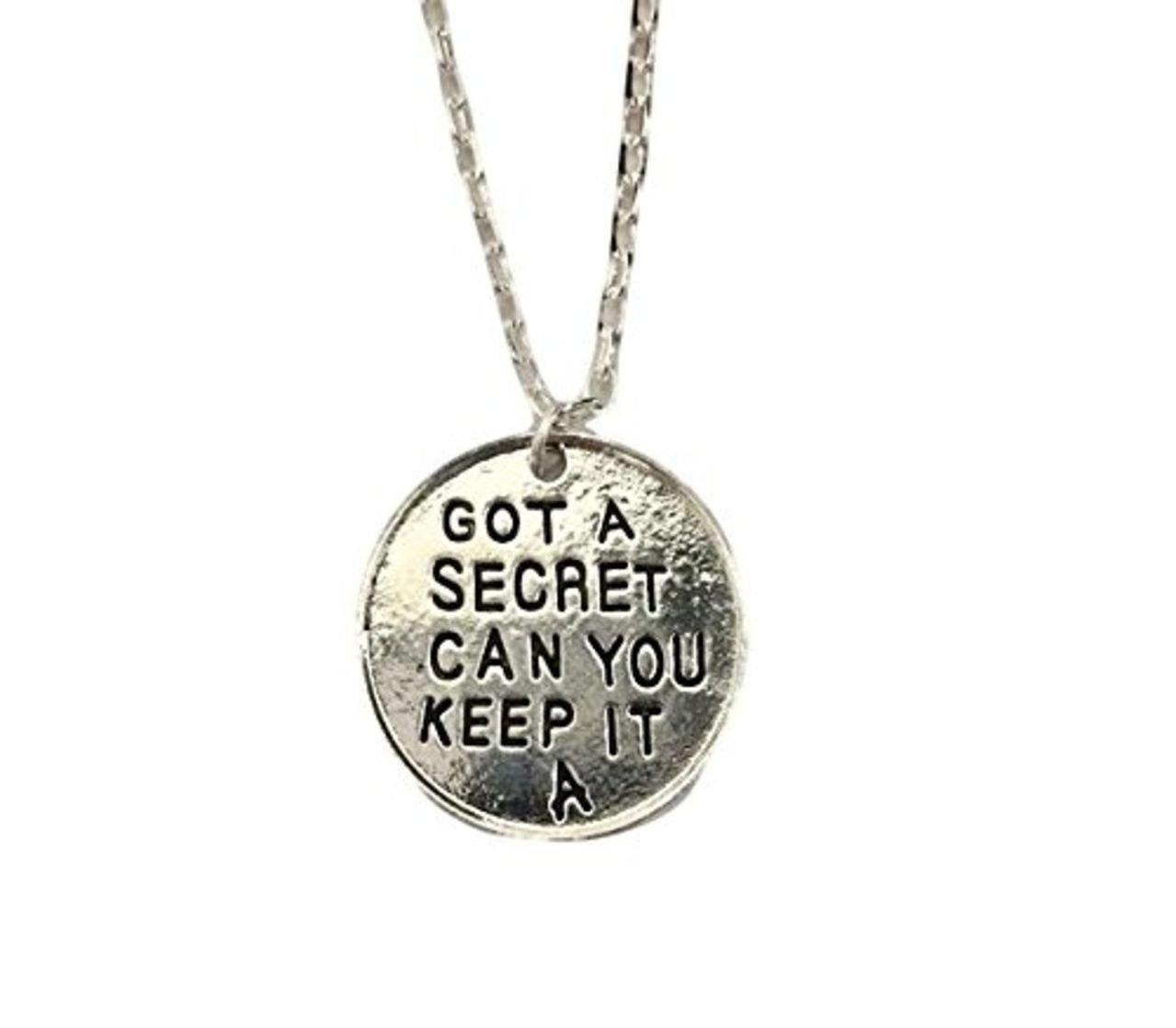 Buddy's Memorabilia 13 Pretty Little Liars GOT A Secret CAN You Keep IT A Pendant Necklace w/ 20'' Chain