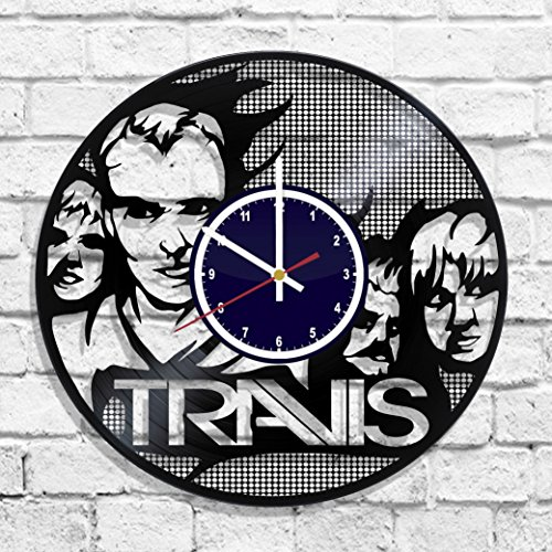 Travis style rock band design wall clock, Travis band decal, Travis wall - Travis Band Rock
