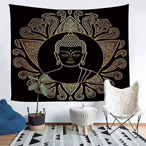 (Moylor Zen Meditation Buddha Pattern Tapestry Wall Art Hanging Headboard Bedroom Dorm Living Room)