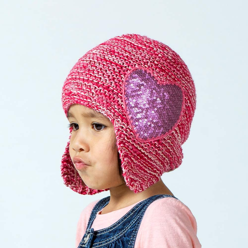 Pomegranate-Small Peppercorn Kids Sequin Flower Beanie 1-2 YR