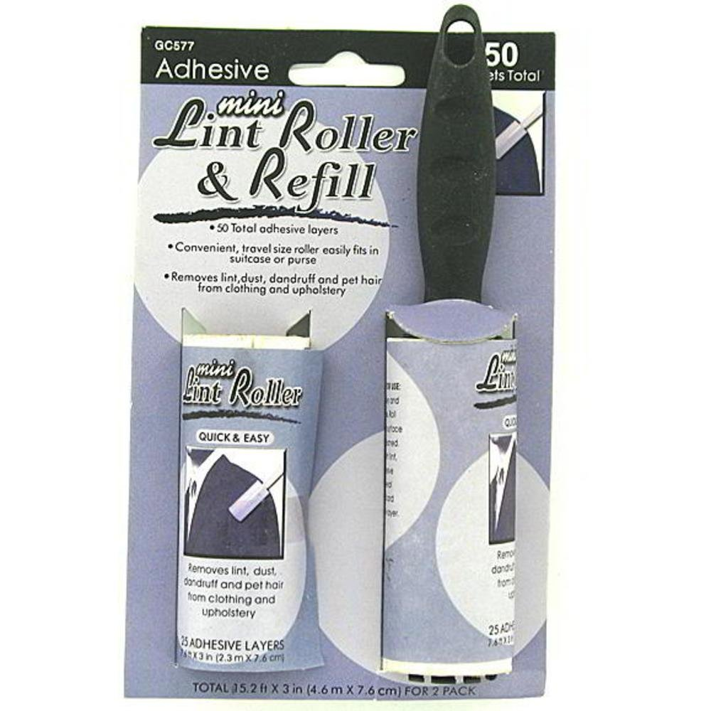 96 Mini adhesive lint roller with refill by FindingKing