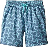 Vilebrequin Kids Boy's Sashimi Check Fishes Swim Trunk (Big Kids) Blue Swimsuit Bottoms