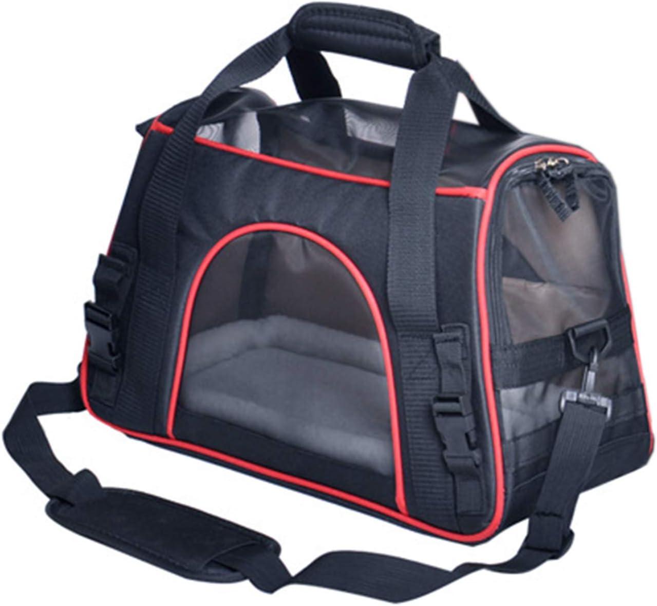 Alfie Pet – Jorgie Pet Carrier with Adjustable Strap – Color Black, Size Small