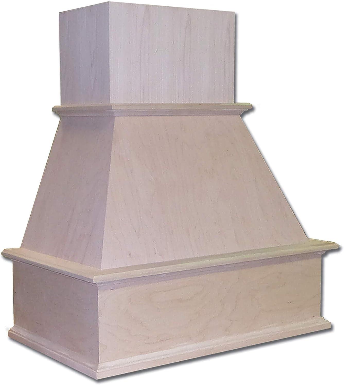 """Castlewood 36"""" Traditional Chimney Hood - Maple (No Ventilator/Liner)"""