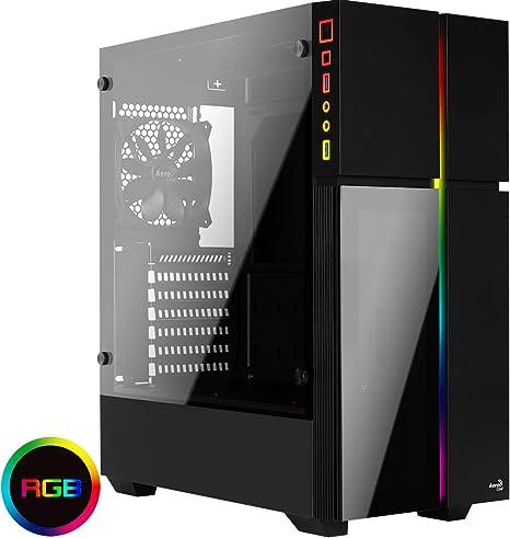 Aerocool PLAYAXL, Caja PC ATX RGB, Cristal Templado+Panel Frontal, Negro: Amazon.es: Informática