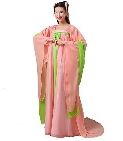 ZENGAI Dinastía Tang Disfraz Antiguo Princesa Han Ropa China Pecho Gasa Prenda Hada Espectáculo De Danza