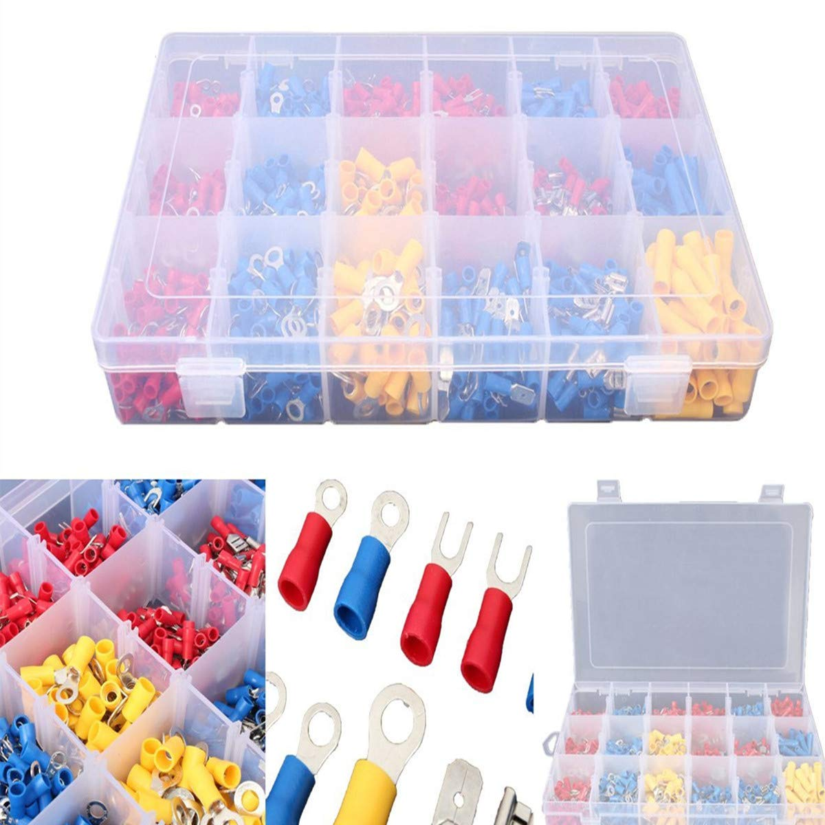 1200PCS Insulated Wiring Terminals Wire Connectors Kit Electrical Crimp Terminals Automotive Terminals Set by INSMA
