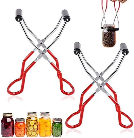 Anti-slip Canning Jar Lifter Tongs Stainless Steel Jar Lifter with Grip Handle