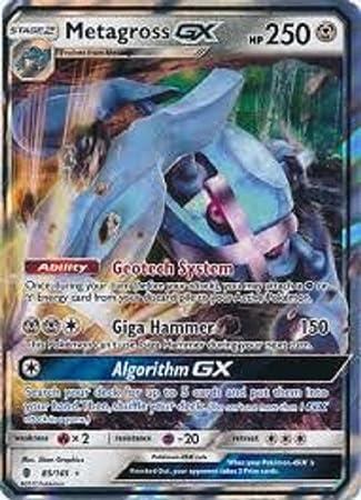 Pokemon Guardians Rising Metagross-GX #85//145 Ultra Rare Card