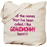 CafePress - I LIKE BEING CALLED GRANDMOMMY! - Natural Canvas Tote Bag, Cloth Shopping Bag