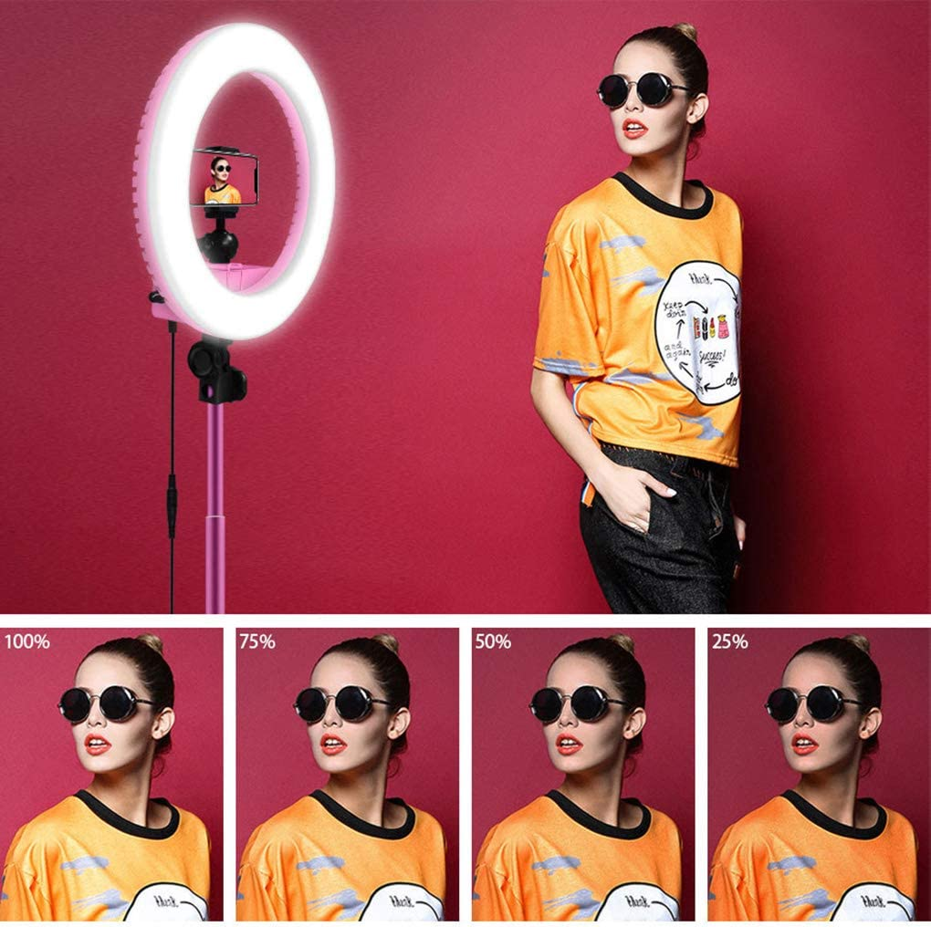 WenFei shop Ring Light,13in Externa 20W//5500K Dimmable Makeup Ring Light with Tripod Stand and Bluetooth Remote Control for YouTube Video Shooting