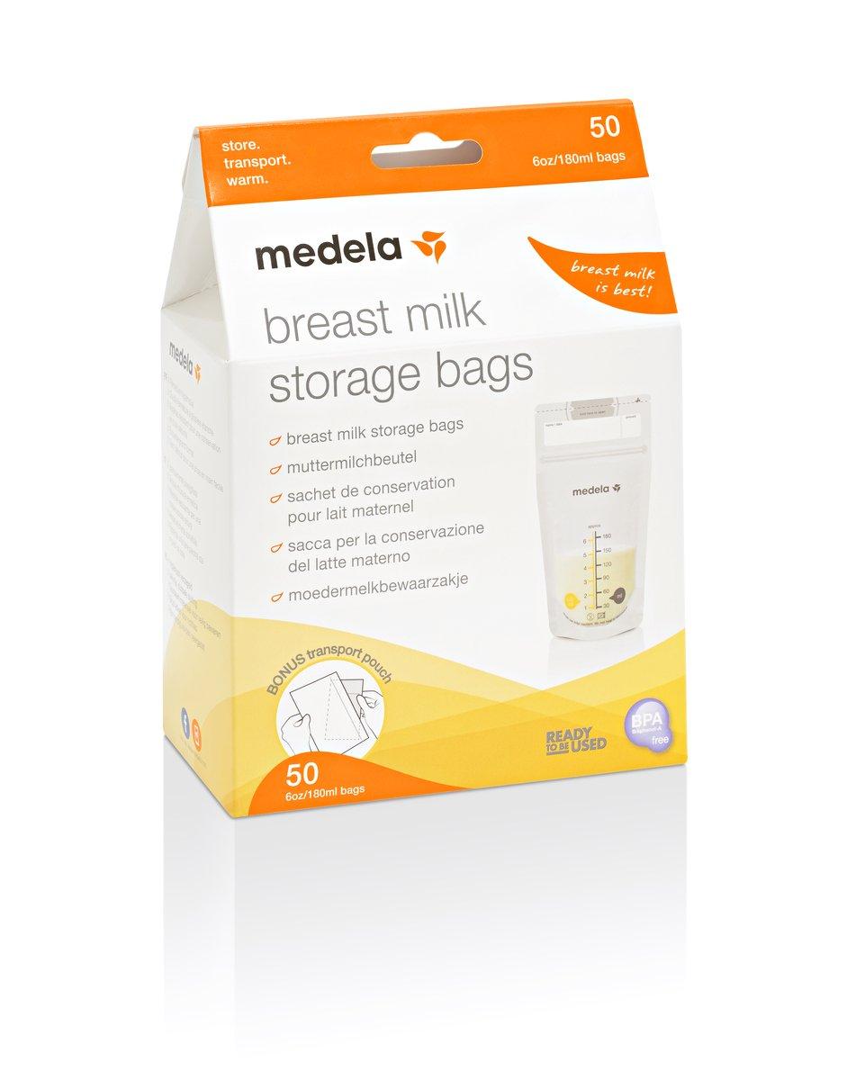 Medela Swing - Sacaleches eléctrico, automático simple + Medela 80411 - Bolsas de almacenamiento para conservar y congelar leche materna Medela, 50 ...